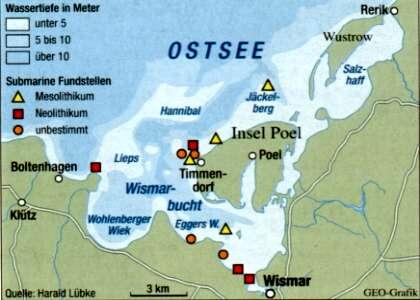 Karte Insel Poel Und Umgebung.Archaologisches Auf Der Insel Poel Und In Der Umgebung